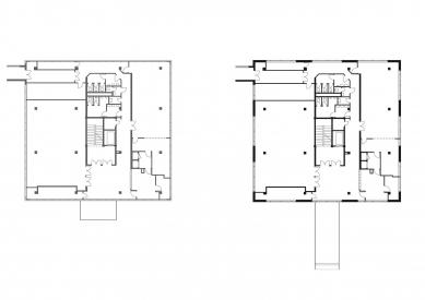 EGÚ Brno - Půdorys 2.np - původní stav a návrh - foto: knesl + kynčl architekti