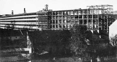 Tabáková továrna v Linci - Fotografie z průběhu realizace