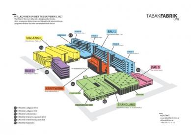Tabáková továrna v Linci - Axonometrie