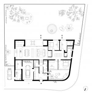 Rodinný dům Litvínovice - Půdorys