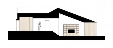 Rodinný dům Litvínovice - Řez