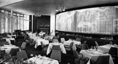 Expo 58 - restaurace Praha - Historický snímek restaurace na Letné