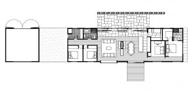 Trentham Long House - Půdorys