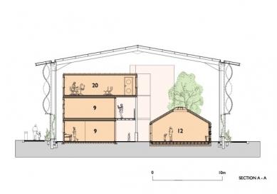 Fawood Children's Centre - Řez - foto: © Alsop Architects, London