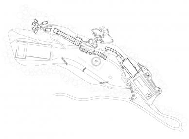 Oprava a obnova areálu kúpeľov Zelená žaba - Situace - foto: Cubedesign