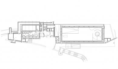Oprava a obnova areálu kúpeľov Zelená žaba - Půdorys 1.pp - foto: Cubedesign