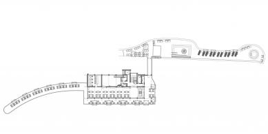 Oprava a obnova areálu kúpeľov Zelená žaba - Půdorys 3.np - foto: Cubedesign