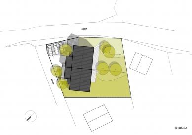 Dvojdom Plánky - Situace - foto: Architekti.sk
