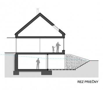 Dvojdom Plánky - Řez - foto: Architekti.sk