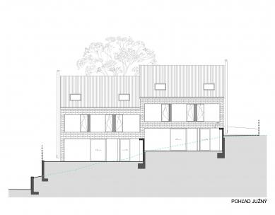 Dvojdom Plánky - Jižní pohled - foto: Architekti.sk