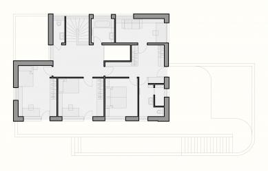 Rodinný dům, Černošice - Půdorys 2NP