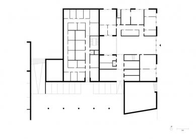Obytný soubor Killesberg - Půdorys suterénu - foto: David Chipperfield Architects