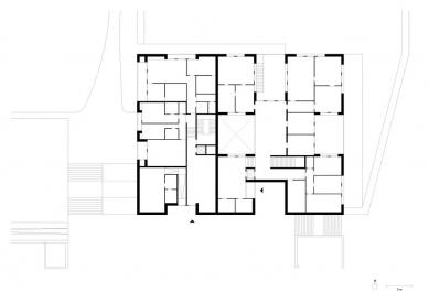 Obytný soubor Killesberg - Půdorys přízemí - foto: David Chipperfield Architects