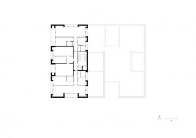 Obytný soubor Killesberg - Půdorys typického podlaží - foto: David Chipperfield Architects