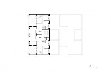 Obytný soubor Killesberg - Půdorys bytu - foto: David Chipperfield Architects