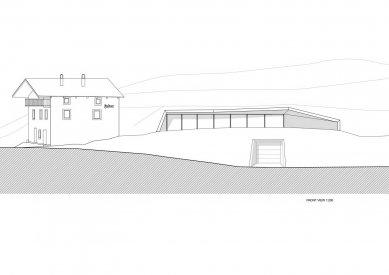 Rozšíření rodinného domu na farmě Felderhof - Čelní pohled - foto: Pavol Mikolajcak Architekt