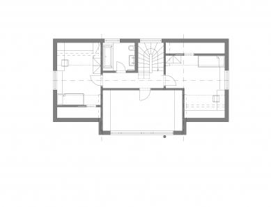 Rodinný dům u Olomouce - Půdorys podkroví