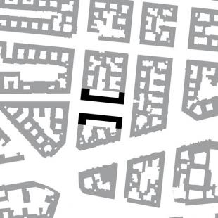 Polyfunkční dům Leibnizkolonnaden - Situace - foto: Kollhoff Timmermann Architekten