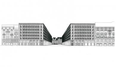 Polyfunkční dům Leibnizkolonnaden - Perspektiva - foto: Kollhoff Timmermann Architekten