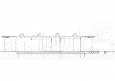Revitalizace parku a náměstí Krakov - Podélný řez - foto: Rusina Frei architekti