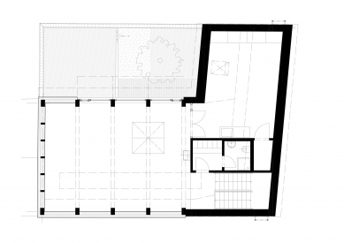 Protetické centrum - Půdorys patra - foto: Rusina Frei architekti