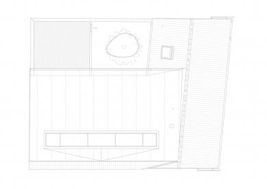 Protetické centrum - Výkres střechy - foto: Rusina Frei architekti