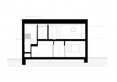 Protetické centrum - Řez a-a' - foto: Rusina Frei architekti