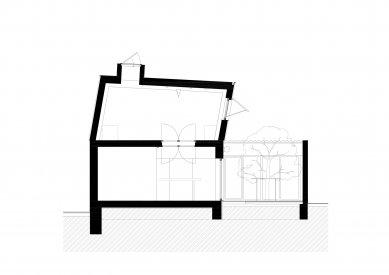 Protetické centrum - Řez b-b' - foto: Rusina Frei architekti