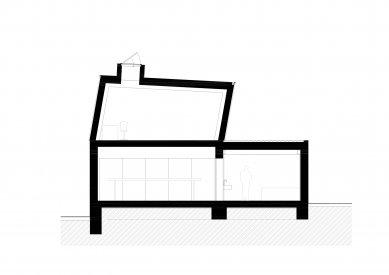 Protetické centrum - Řez f-f' - foto: Rusina Frei architekti