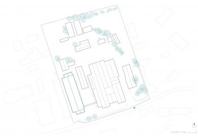 Montážní hala TMT - Situace - foto: med : pavlík architekti