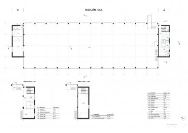 Montážní hala TMT - Půdorysy - foto: med : pavlík architekti