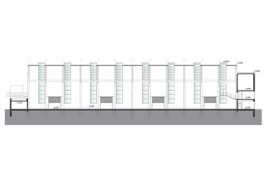 Montážní hala TMT - Řez b-b' - foto: med : pavlík architekti