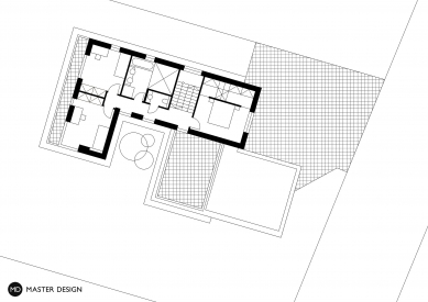 Rodinný dům, Levín u Berouna - Půdorys patra