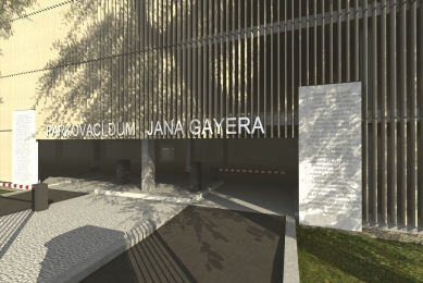 Parkovací dům Jana Gayera - Vizualizace - foto: architekti chmelík & partneři