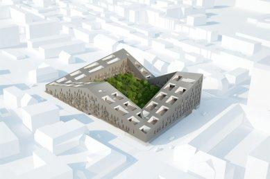 Eggenberge - bytový dům s obchody - Vizualizace - foto: Pentaplan ZT GmbH