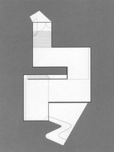 Hedge House - Půdorys suterénu - foto: © Wiel Arets Architect & Associates