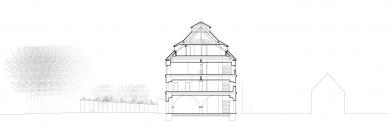 Rekonstrukce barokní sýpky ve Velkých Pavlovicích – Hotel Lotrinský - Řez