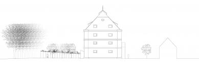 Rekonstrukce barokní sýpky ve Velkých Pavlovicích – Hotel Lotrinský - Pohled jižní