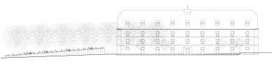 Rekonstrukce barokní sýpky ve Velkých Pavlovicích – Hotel Lotrinský - Pohled západní
