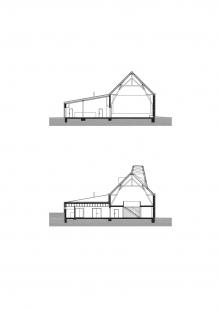 Informační a kulturní centrum Píšť - Příčné řezy - foto: knesl + kynčl architekti