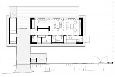 Rodinný dům ve Smilovicích - Půdorys přízemí - foto: © Kamil Mrva Architects