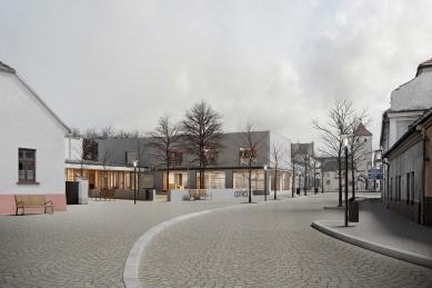 Spolkový dům Otava v Horažďovicích - Zákres do fotografie - foto: Aoc