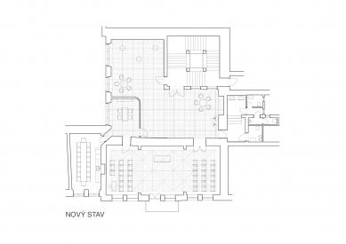 Interiér obřadní síně v Novém Jičíně - Půdorys nového stavu