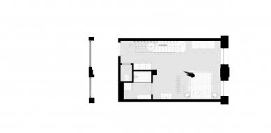 Loftový byt v Mlynici - Půdorys 1.np - foto: KuklicaSmerek architekti