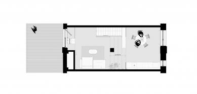 Loftový byt v Mlynici - Půdorys 2.np - foto: KuklicaSmerek architekti
