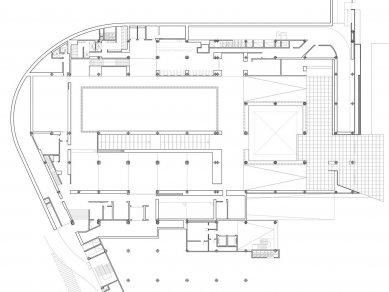 Centre Pompidou Málaga  - Půdorys přízemí