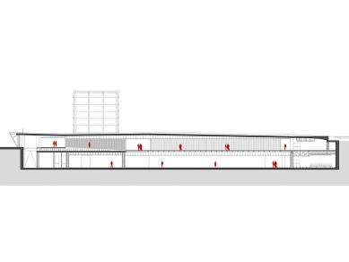 Centre Pompidou Málaga  - Řez