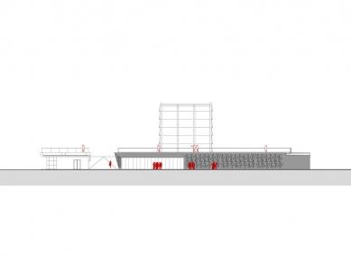 Centre Pompidou Málaga  - Vstupní průčelí