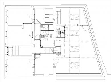 Rekonstrukce a dostavby objektu Závěrka 3 - půdorys - foto: 4A architekti