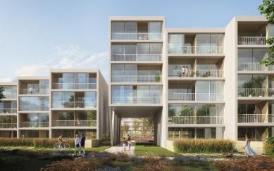 Residence Nádraží Žižkov - Detail příčného propojení - foto: RA15/Benthem Crouwel Architects